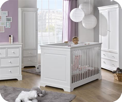chambre bébé bio chambre bébé complète mel blanche avec armoire 1 porte