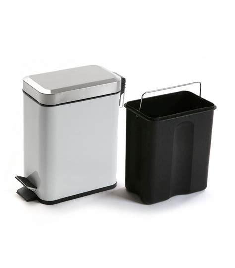poubelle cuisine etroite poubelle de salle de bain étroite en métal blanche et