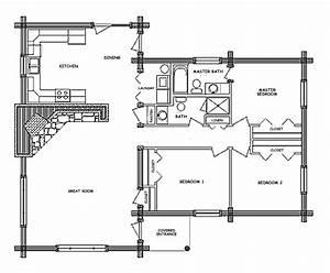 Pioneer Log Home Floor Plan