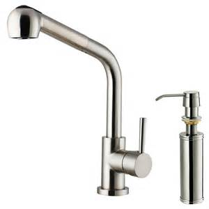 kitchen faucet with sprayer and soap dispenser vigo single handle pull out sprayer kitchen faucet with soap dispenser in stainless steel