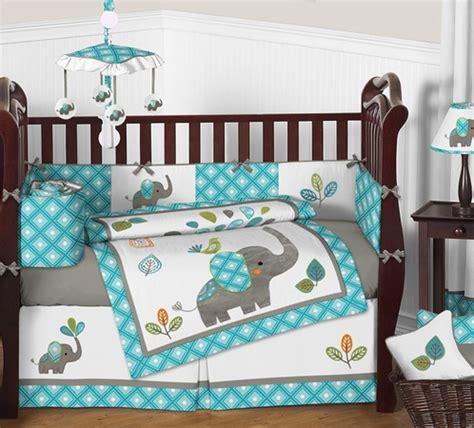 baby elephant crib bedding mod elephant baby bedding 9pc crib set by sweet jojo