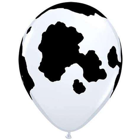 Cowhide Balloons - holstein cow qualatex balloons cow print