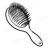 hair brush clipart black and white abeka clip purple hairbrush
