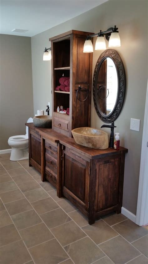 rustic bathroom vanities  images