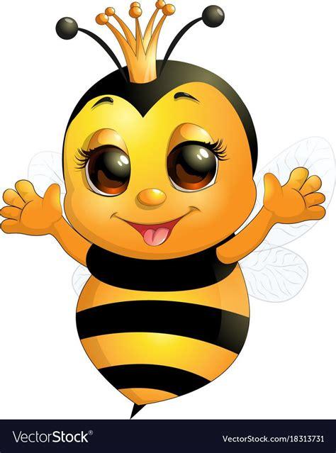 beautiful cute bee royalty  vector image vectorstock