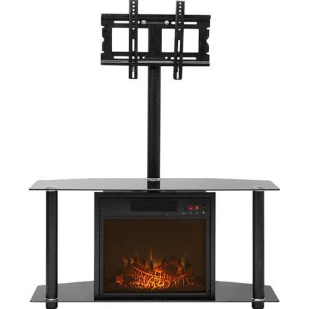 quality craft electric fireplace media unit black