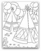 Teepee Coloring Indian Tipi Pages Tent Wigwam Drawing Indians Printable Native American Tepee Pee Tee Cherokee Template Homes Sheets Teepees sketch template
