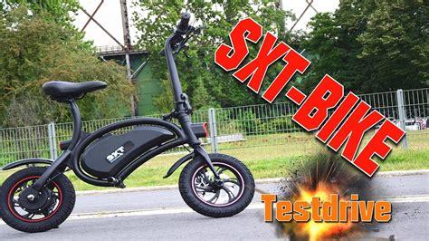 e bike träger sxt bike testdrive anleitung tutorial review escooter eroller mini e bike deu ger