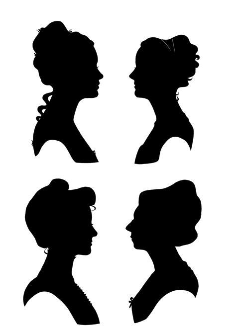 victorian silhouette clipart - Clipground