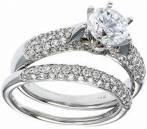gold diamond wedding ring set deal With white diamond wedding ring sets