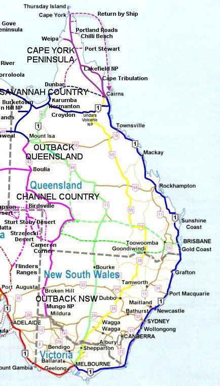 east coast australia map australia pinterest