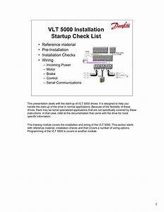 Danfoss Vlt 5000 Instruction Manual