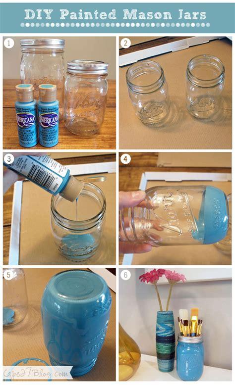 jar painting ideas diy painted mason jars