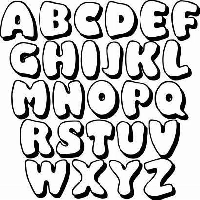 Bubble Letters Printable Alphabet Letter Printablee Abc
