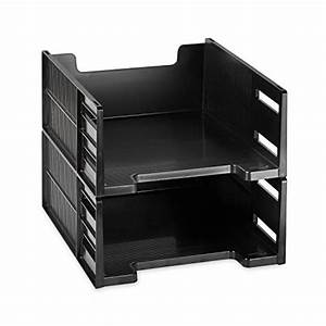 Eldon 17671 high capacity front load stackable tray for Front load letter tray stacking