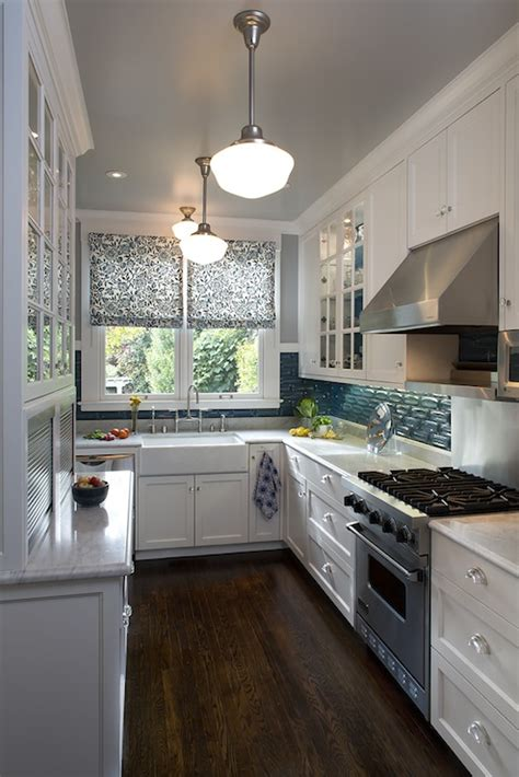 blue glass tiles contemporary kitchen artistic