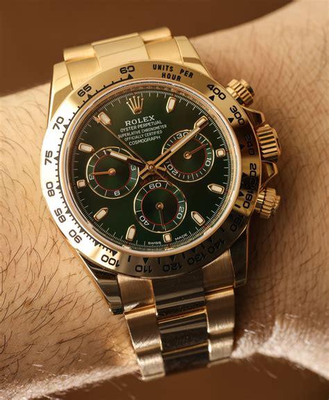 Rolex Cosmograph Daytona 116508 Green Dial 18k Yellow Gold