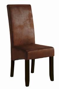 Chaise sejour sagua marron fonce vintage for Meuble salle À manger avec chaise couleur