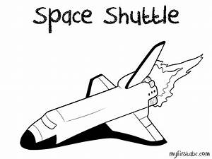 Space Shuttle - Free Colouring Pages