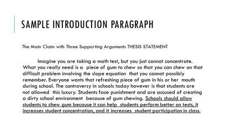 introduction paragraph template pro argument essay ppt