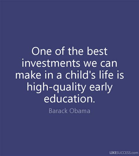 Early Childhood Education Quotes Obama