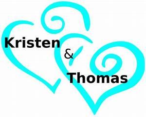 Blue Heart Wedding Clip Art at Clker.com - vector clip art ...