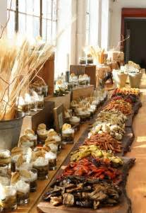 Rustic Buffet Table Food Display Ideas