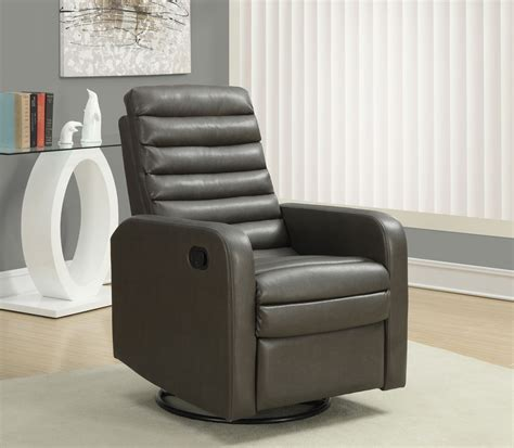 charcoal gray swivel glider recliner 8086gy from monarch