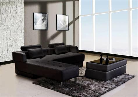 canape d angle cuir noir canapé d 39 angle cuir noir réversible et convertible largo