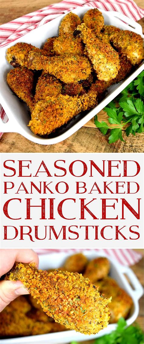 chicken panko baked seasoned drumsticks crusted recipes drumstick lordbyronskitchen prettypracticalpantry oven legs thighs air fryer fried byron lord kitchen turkey