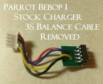 high pro glow parrot bebop  battery balance port