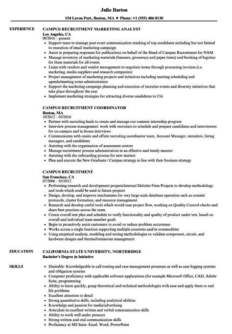 Recruiting Resume by Cus Recruitment Resume Sles Velvet