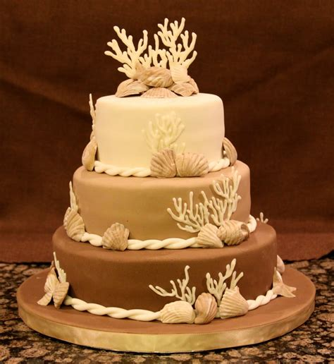 Beach Engagement Party Cake