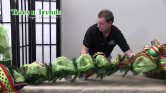 how to decorate a garland for christmas trees n trends unique home decor youtube