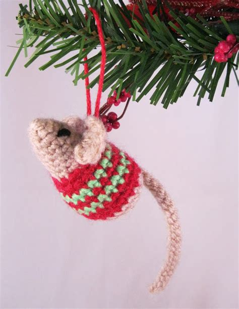 christmas mouse  pattern  crochet crochet