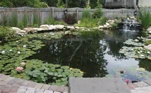 Raised Concrete Deck by Large Natural Pond Pacificponds Com Pond Design Ideas