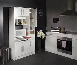 Salle a manger complete blanc laque but for Meuble de salle a manger avec cuisine equipee noir laque pas cher