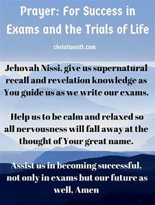 Prayer for success in exam