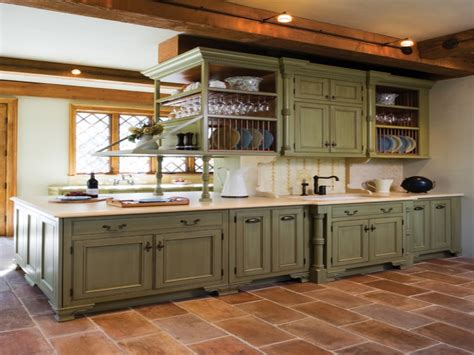 mediterranean kitchen cabinets olive green kitchen walls
