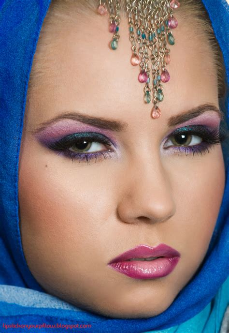 sultry arabic makeup  lipstick   pillow