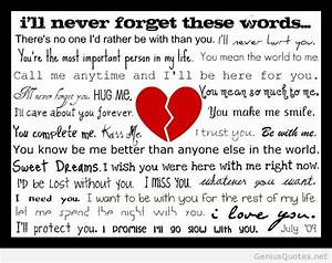 I love you poem... Forget Girlfriend Quotes
