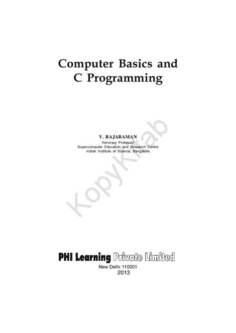 Download Computer Basics And C Programming by V. Rajaraman