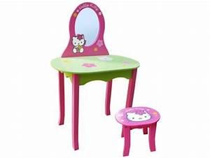 Coiffeuse En Bois Petite Fille : coiffeuse avec tabouret hello kitty en bois fun house 711401 mobilier chambre enfant ~ Teatrodelosmanantiales.com Idées de Décoration