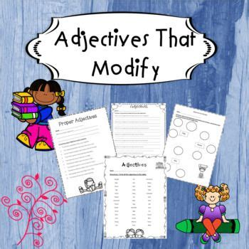 adjectives  modify  images adjectives nouns
