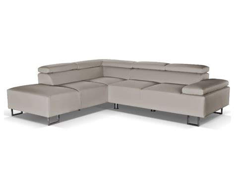 canapé italien luxe canapé d 39 angle cuir luxe italien gris angle gauche