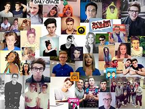 Youtubers Cartoon Collage