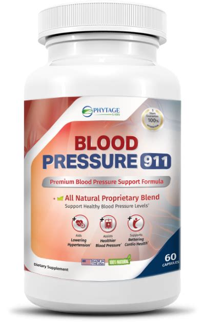 Blood Pressure 911 Reviews - Phytage Labs Ingredients ...