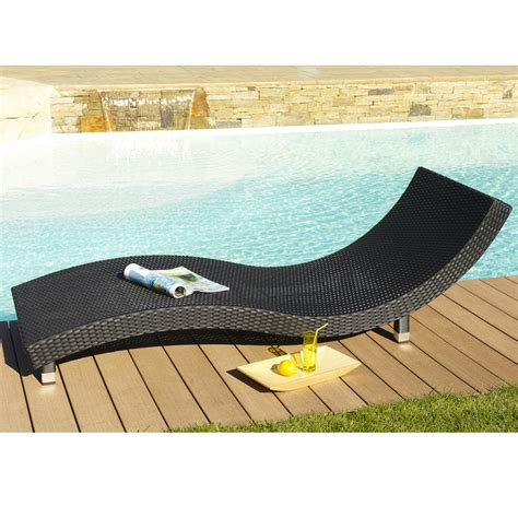 chaise longue resine tressee chaise longue en resine tressee design en image