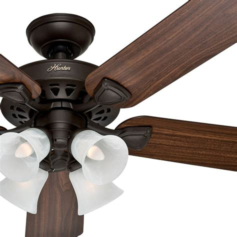 Hunt Lighting by 52 Traditional New Bronze Finish Ceiling Fan With
