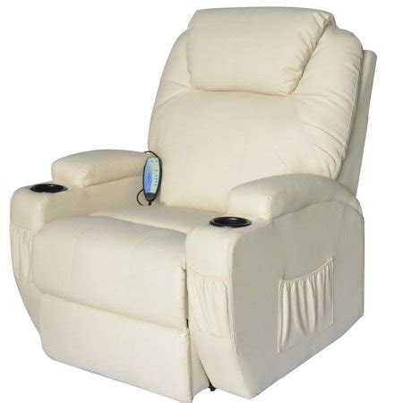 zip chairs ebay homcom deluxe heated vibrating pu leather recliner